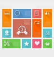 Flat square icons for internet purchase vector image