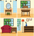 four roomes in the house vector image