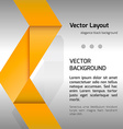 Orange Layout vector image
