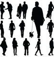 people walk vector image