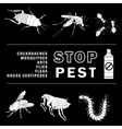 stop pest vector image