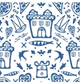 Stylish seamless pattern with typical Portuguese vector image