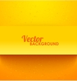 Paper orange rectangle banner with drop shadows vector image