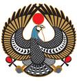 Falcon symbol of horus vector image