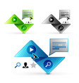 set of abstract geometric elements - triangle vector image vector image