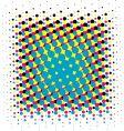 CMYK halftone vector image vector image