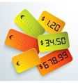 Universal bright price vector image