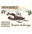 snow mobile vector image vector image