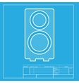 Speaker sign White section of icon vector image