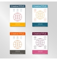 Abstract circle line template Contours of globe vector image