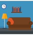 Background of furnished room vector image