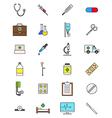 Color medicine icons set vector image