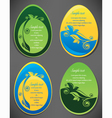 easter eggs collection vector image