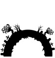 isolated evil cementery vector image