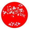 modern japanese cherry blossom template vector image