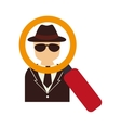 security detective man vector image