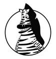 zebra icon flat vector image