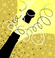 Holiday sparks of a champagne vector image