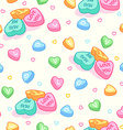 Seamless pattern for Valentines Day with candies vector image