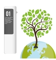 eco plant environment care icon vector image