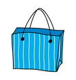 A shopping bag is placed vector image