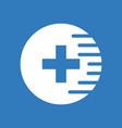 icon medical cross vector image