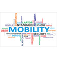 word cloud mobility vector image