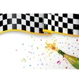 Champion celebration with champagne explosion and vector image