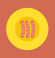 Top View of Sausages On Plate vector image