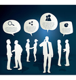 Silhouettes of Business People vector image vector image