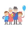 Grandparents with grandchildren on vector image