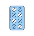 blue blister pack pills vector image