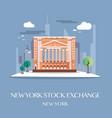 new york stock exchange vector image