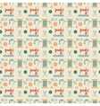 Sewing seamless pattern vector image