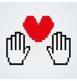 social media pixel design vector image