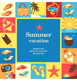 summer vacation frame vector image