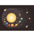 Solar system flat design vector image