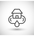 Home water supply system line icon vector image