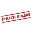 Free Pass Watermark Stamp vector image