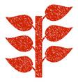 flora plant icon grunge watermark vector image