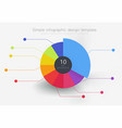 round multi-colored element for infographics vector image