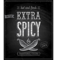 extra spisy chalk vector image vector image