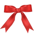 Red wide ribbon vector image