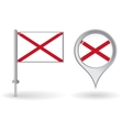 Northern Ireland pin icon and map pointer flag vector image
