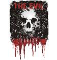 evil lives inside vector image vector image