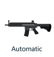assault automatic black rifle military gun on vector image