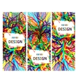 Banners set for modern background design vector image