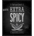 extra spisy chalk vector image