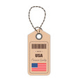hang tag made in usa with flag icon isolated on a vector image