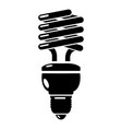 light bulb icon simple black style vector image
